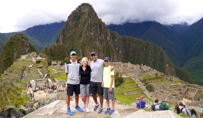 the kidtripster family at machu picchu