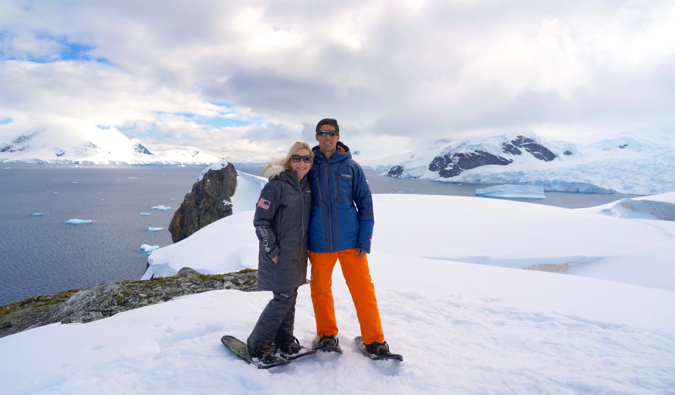 the kidtripster family in antarctica