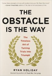 book cover of the Obstacle is the Way