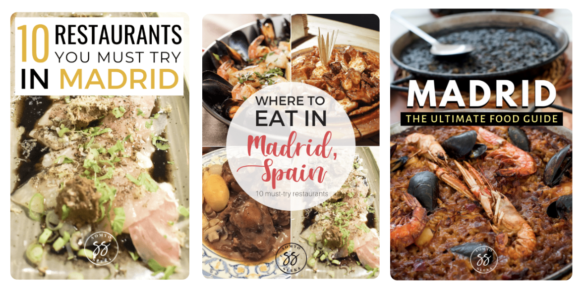 a screenshot of Pinterest pins from Spain about food